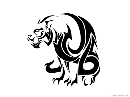 great tribal sitting tiger design tattooimages biz