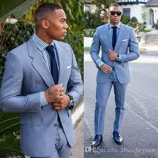 light blue jacket mens 2018 new fashion light blue groom tuxedos custom made cheap