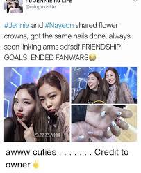 Sdfsdf Meme - no jennie no life jennie and naveon shared flower crowns got the
