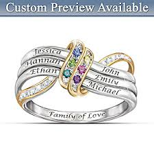 family birthstone rings ring our familys forever personalized birthstone engraved ring