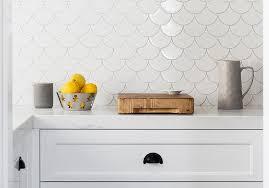 white kitchen backsplash tile white fan kitchen backsplash tiles design ideas