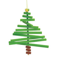 wooden tree mobile craft for the home