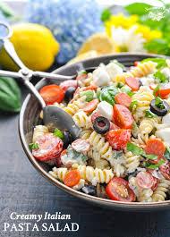 creamy italian pasta salad the seasoned mom