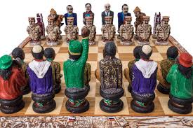 buy robben island political chess set u0026 board at chessafrica co za