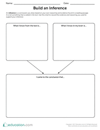 build an inference worksheet education com