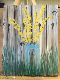 spring painting ideas just painted this today i learned the fence technique from