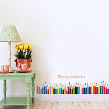 Kids Room Wall Stickers by Drawing A Colorful Life Pencil Kids Child Room Wall Sticker Decals
