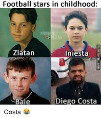 Diego Costa Meme - football stars in childhood football rena zlatan iniesta bale