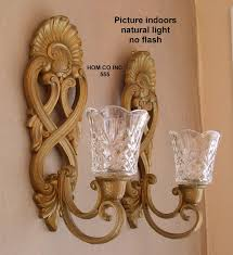 awesome candle holder wall decor with wrought iron frames and