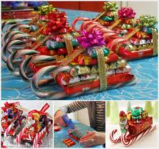 christmas candy gifts make these candy santa s sleighs for christmas gifts