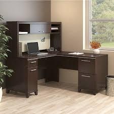 bush enterprise commercial 60 inch l shaped desk mocha cherry