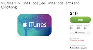 15 gift cards groupon offering 15 itunes gift cards for 10