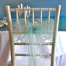chair sash organza chair sash blue faraway event rentals koh samui