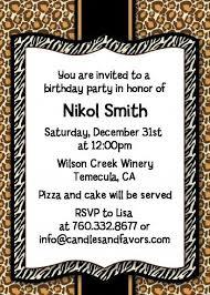 leopard birthday invitations 28 images leopard birthday 5x7