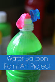 water balloon paint art project living a sunshine life