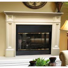 rustic look wood fireplace mantel surround brick anew