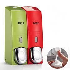 Plastic Foam Soap Dispenser Shower Gel Bottle Bathroom Hand Liquid - Bathroom hand soap dispenser