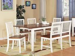 White Wooden Dining Table And Chairs Dining Room White Dining Room Furniture Dining Room Furniture