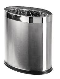 brelso u0027invisi overlap u0027 open top stainless steel trash can small