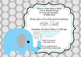baby shower invitation cards elephant themed baby shower