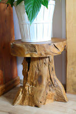 Tree Stump Side Table Tree Trunk Table Ebay