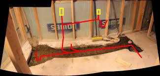 basement bathroom rough in plumbing basement bathroom plumbing venting help needed