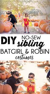 Halloween Fleece Fabric by Diy No Sew Batman Batgirl Costume Diy Tulle Tutu Diy