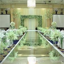 Aisle Runner Wedding Cheap 1m Wide X30m Roll Gold Silver Double Side Mirror Carpet