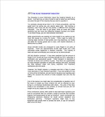 trucking plan business template u2013 10 free word excel pdf format