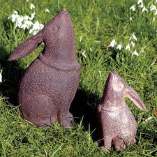 customer reviews for cast iron moongazing hares large pair