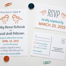two birds of a feather modern wedding invitation and rsvp postc