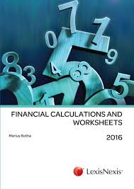 lexisnexis yellow book financial calculations and worksheets 2016 lexisnexis south africa