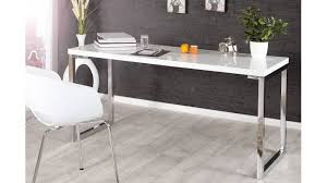 bureau laqué blanc design bureau design laqué blanc justin 160 cm en mdf pieds
