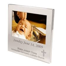 baptism engraving this polished nickel plated picture frame makes a great gift for