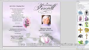 funeral obituary templates funeral memorial program template