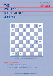 college mathematics journal contents u2014september 2016 mathematical