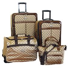 American Baggage Fees American Flyer Signature 4 Piece Luggage Set Luggage Pros