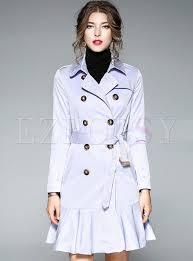 light blue trench coat light blue elegant mermaid hem trench coat ezpopsy com