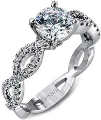 twist engagement ring simon g twist shank diamond engagement ring setting mr1596