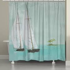 Sailboat Shower Curtains Shower Curtains