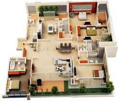 apartments home design 4 bedroom residential house plans