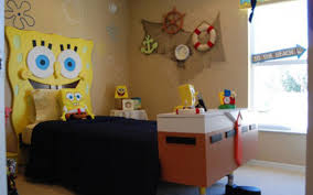 Kids Bedroom Theme Bedroom Funny Spongebob Themed Bedroom Decorating Ideas For Kids