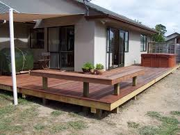 exterior home deck exterior design featuring wooden array cherry