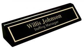 desk wedge name plates