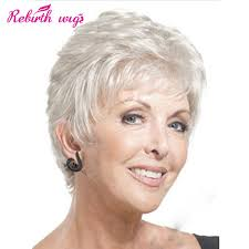 gray hair pieces for american ideas about short straight mother gray hair wigs fashion heat