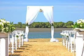wedding arches brisbane single wedding arch with white chiffon drapes by www