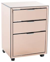 hyde mirrored 3 drawer file cabinet transitional filing