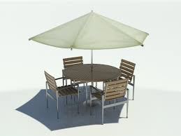 Patio Table And Chair Sets Table Chair Umbrella 3d Max