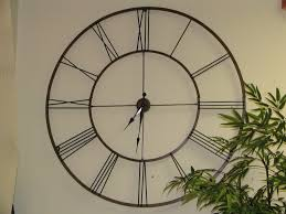 Uttermost Clocks Modern Ideas Large Metal Wall Clock Very Attractive Design
