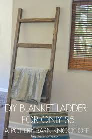 How To Make A Barn Quilt Diy Blanket Ladder Pottery Barn Knock Off